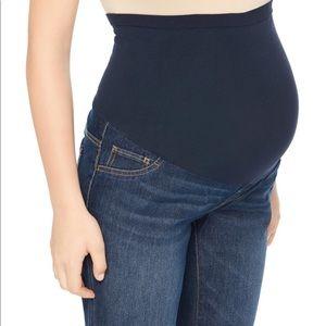Índigo Blue Maternity Crop Jeans Size Small